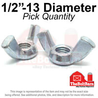 Qty-100 Wing Nuts Zinc Plated Steel 3//8-16