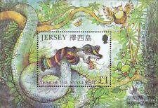 GB-Jersey Block28 (kompl.Ausg.) postfrisch 2001 Schlange