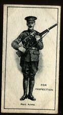 Tobacco Card, Imperial Canada, INFANTRY TRAINING, 1915, Inspection Port Arms,#26