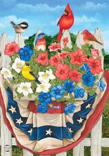 "New listing American Birds Spring House Flag Patriotic Floral 28"" x 40"" Briarwood Lane"