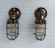 Outdoor Indoor Heavy Brass Wall Lamp Industrial Lamp Japanned Finish
