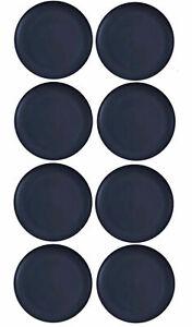 "Mainstays Plastic Dinner Plates, 10.5"" Round, Set Of 8, Dark Blue, BPA Free"