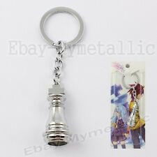 No Game No Life Imanity Race Piece King Metal Pendant Key Ring Chain Silver #02