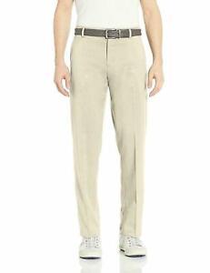 Essentials Mens Standard Straight Fit Stretch Golf Pant Stone 35W x 34L Wicking