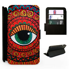 Aztec Eye Tribal Design - Flip Phone Case Cover - Fits Iphone / Samsung