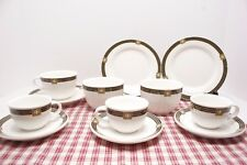 Villeroy & Boch BELUGA Luxembourg Vavro, 12 Pc LOT: Espresso Cups, Plates, Bowls