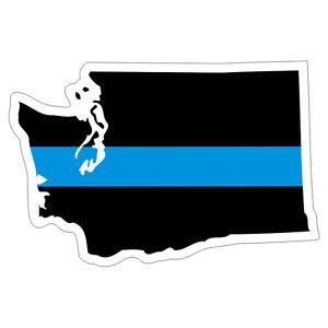 Washington WA State Thin Blue Line Police Sticker / Decal #223 Made in U.S.A.