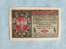Banknote - Poland 1917 - 1/2 Marki