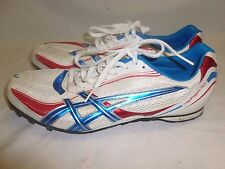 Mens Red White Blue Asics Hyper Md Track Cleats Spikes Shoes  Sz 11