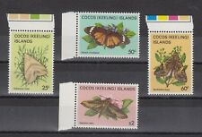 TIMBRE STAMP 4 ILES COCOS Y&T#101-04 PAPILLON BUTTERFLY NEUF**/MNH-MINT 1983~B05