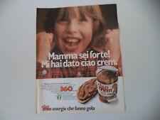 advertising Pubblicità 1980 CIAO CREM STAR