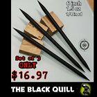 "(3) ""THE BLACK QUILL"" STEEL NINJA DOUBLE SPEAR TIP THROWING TORPEDO SPIKE SET"
