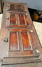 Tall 3 DOOR PANEL FRONT OAK ICE BOX Original hardware.