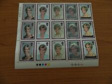 CORNER BLOCK WITH TRAFFIC LIGHTS OF 15 DIANA MEMORIAL COMMEMORATIVE STAMPS MNH