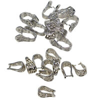 10x Jewelry Charms Making Brass Ice Pick Pinch Bails Platinum Connectors