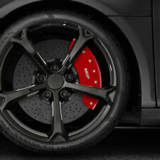 Set Of 4 Front And Rear Red Mgp Caliper Covers For 2014 Volkswagen Jetta Tdi