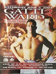 Arturo Gatti vs Micky Ward 3 Fight poster The Final Chapter