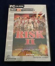 Risk II 2 PC CD computer strategy board game of armies global world domination..