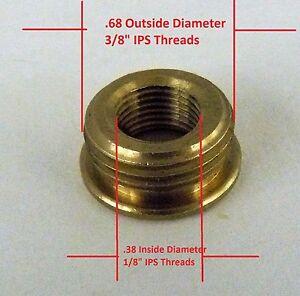 "Reducer Lamp Part 3/8"" IPS(5/8"" Dia) M X 1/8"" IPS(3/8"" Dia) F Pipe Brass R3"