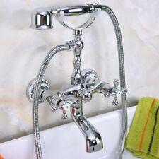 Chrome Clawfoot Bath Tub Faucet Telephone Design Handheld Shower Set Zna183