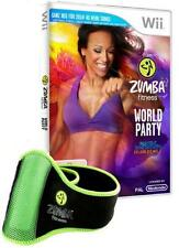 Nintendo Wii +Wii U Zumba Fitness World Party inkl. Hüftgürtel Deutsch GuterZust
