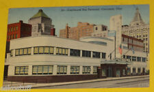 Greyhound Bus Terminal 1943 Cincinnati Ohio Early Postcard Great Color Picture!