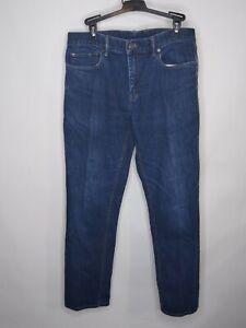 Banana Republic Slim Rinse Denim Size 34x32 Mens Straight Leg Distressed Jeans