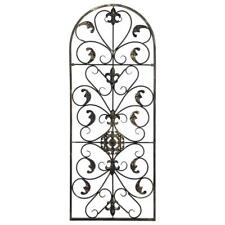 Arched Wrought Iron Wall Art Sculpture Vintage Tuscan Outdoor Indoor Gate Decor