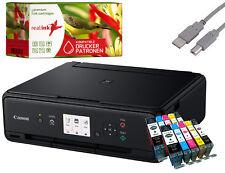 Canon PIXMA TS5050 Multifunktionsgerät Drucker Scanner Kopierer schw. +10 Tinten