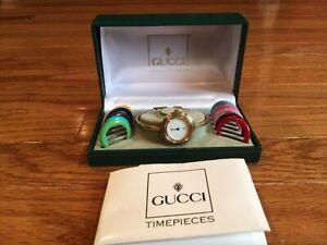 Gucci Change Bezel Wrist Watch for Women Needs Repair Sold As Is