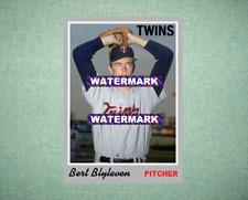 Bert Blyleven Minnesota Twins 1970 Style Custom Baseball Art Card