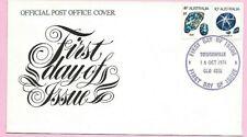 AUSTRALIA 1974 FDC - Coil Stamps (OPAL & SAPPHIRE)  - Fdi TOWNSVILLE, QLD