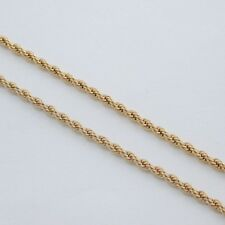 """18"""" 2.5MM GOLD EP ROPE NECKLACE CHAIN GORGEOUS!"""