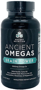 Ancient Nutrition Omegas Brain Power 1000mg Omega 3s Supplement Softgel Capsules