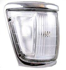 Chrome Front Side lampada ad angolo per TOYOTA HILUX Mk3 Pick-up Lens Fuorigioco O/S