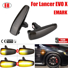 2 Dynamic Smoke LED Side Fender Turn Signal Light Lamp 8351A001 For Lancer EVO X