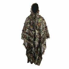3D Hunting Ghillie Suit Leafy Poncho Camouflage Cloak for Birdwatching Sniper