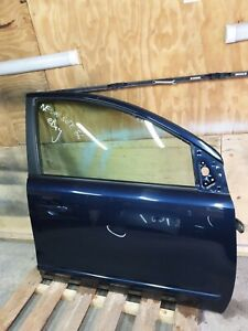 NISSAN NOTE 2006-2013 FRONT DRIVER DOOR COMPLETE DARK BLUE