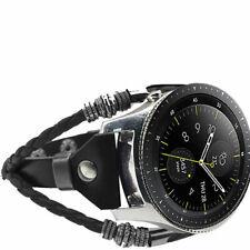For Samsung Gear S3 Watch/Galaxy Watch 46mm R800 Leather Strap Belt Band Wrist