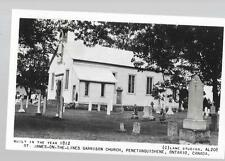 pk27860:Real Photo Postcard-St James OTL Garrison Church,Penetanguishene,Ontario