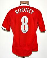MANCHESTER UNITED 2004/2005/2006 HOME FOOTBALL SHIRT NIKE SIZE L ADULT #8 ROONEY