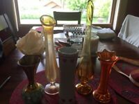Lot of Five Vintage Decorative Flower Vases 1960's - 1980's.