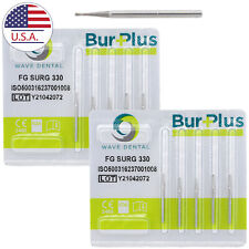 Dental Carbide Surgical Burs Fg Surg 330 Friction Grip Pear High Speed Drill Usa