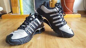 Nike Shox Turbo NZ Black Silver Trainers UK 7.5, EU 42