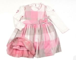 NEU Baby Mädchen Kleid La.Shirt Set Gr.74 86 92 cm Festlich von Emma Englandmode
