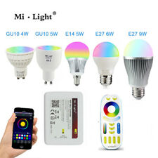Milight RGB CCT led bulb light Wifi E27 E14 GU10 12W RGBW RGBWW LED spot light