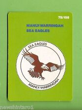 1990 RUGBY LEAGUE CARD #75  MANLY SEA EAGLES   EMBLEM