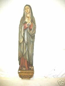 PENTINANT MARY MAGDELENE WOOD POLYCHROME SCULPTURE