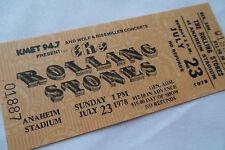 ROLLING STONES Original 1978__UNUSED CONCERT TICKET__Some Girls Tour__EX+