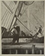 """Unloading the Ship"" by E. Decamps. The Studio, 1907."